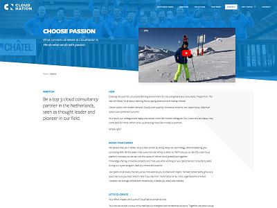 Cloudnation elementor design cloud responsive ux website blue wordpress minimal clean ui