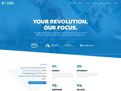 Cloudnation elementor design cloud responsive ux website blue wordpress minimal clean ui
