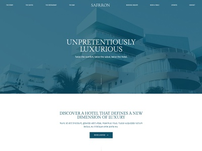 Hotel theme design clean wordpress responsive website minimal hotel booking elementor hotel