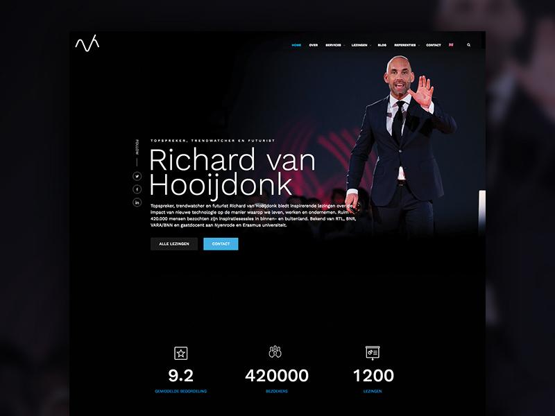 Re-design Richard van Hooijdonk hubspot keynote responsive wordpress re-design