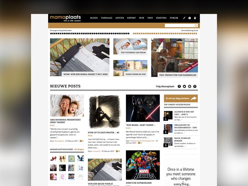 Mamaplaats magazine webdesign website ux ui blog moms magazine