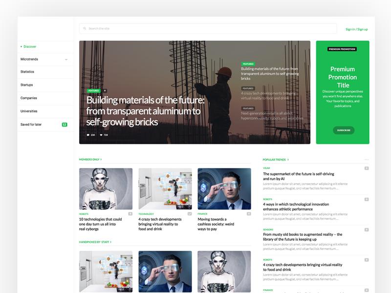 Tech News Platform custom cms responsive fluid platform magazine ux ui