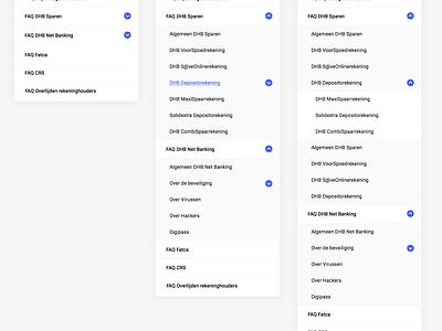 Problem solving accordion 3 levels navigation sidebar menu ui faq