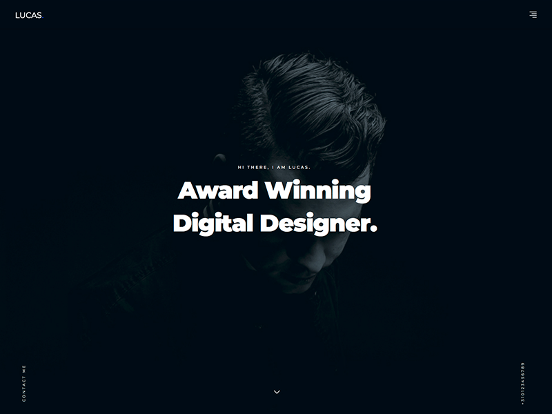 WordPress Portfolio/Agency Theme responsive typography website minimal clean job work development design agency portfolio dark ui theme wordpress
