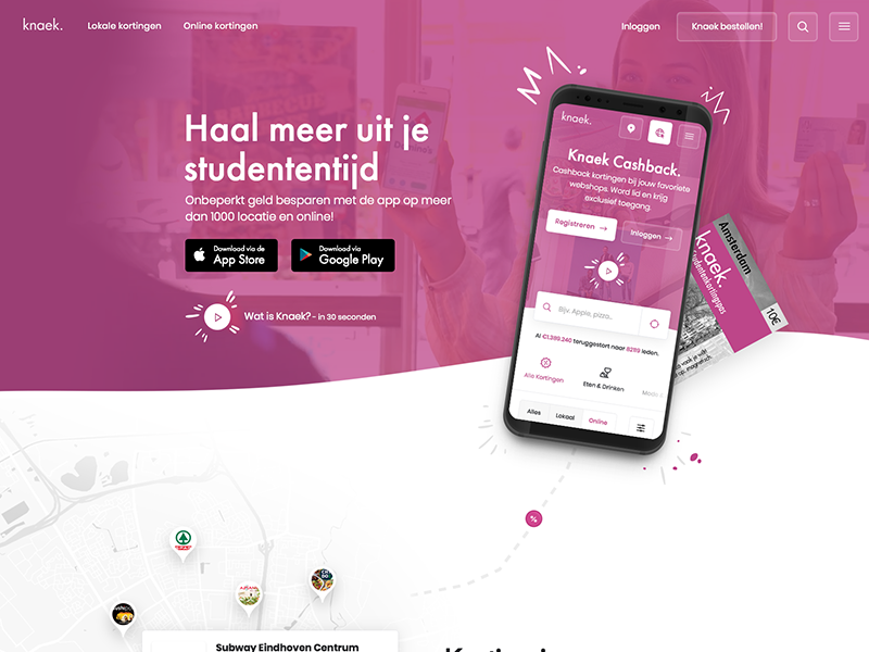 Design for student discount app minimal design responsive website clean ui design story app purple ux design ui