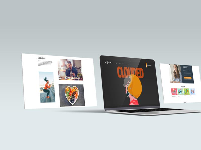 Clouded webdesign website experience design uiux uidesign ui illustration
