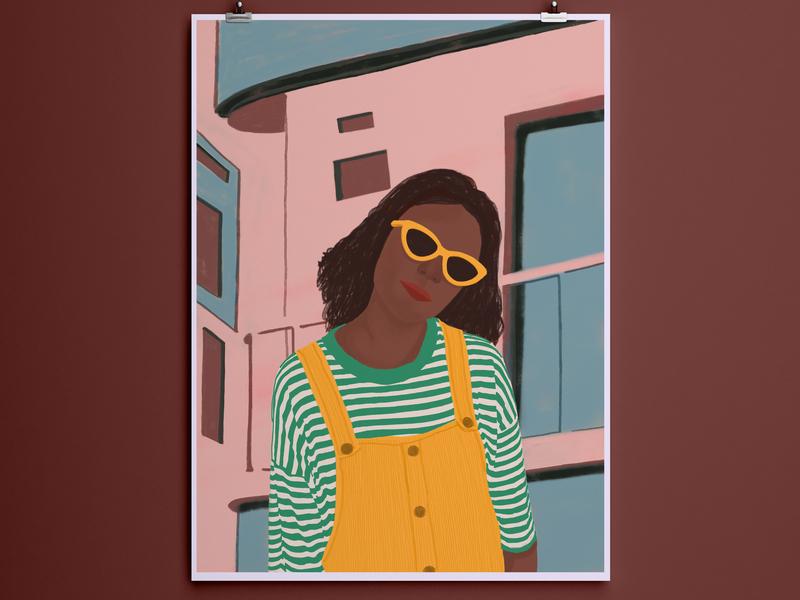 I Am Here architecture apartment adolescent design culture background art line art caricature fashion portrait design bright color sketch basic doodle art bold portrait bright colours illustration bright