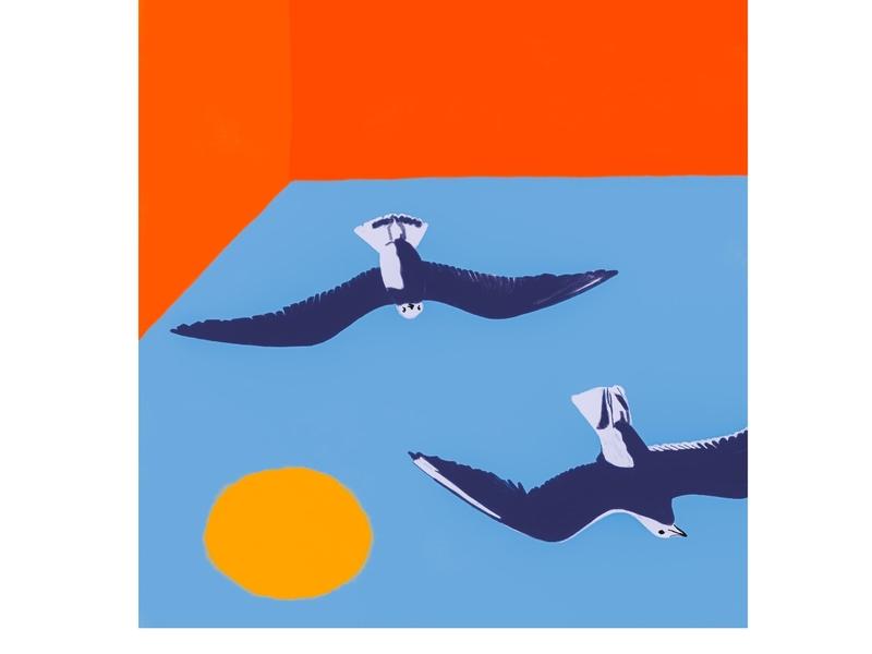 I like Disappearing likeabird illustration bright design art sky abovethefold high free