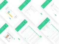 System background visual interface data statistics