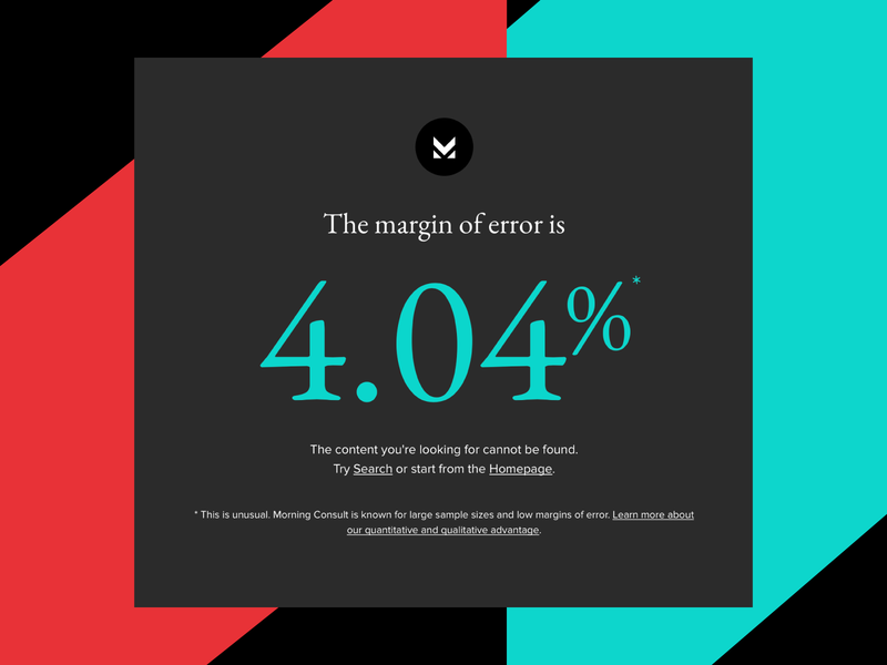 404 error page - margin of error margin 404 error 404 404page identity branding morning-consult