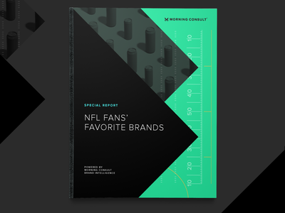 NFL Fans' Favorite Brands - Report Campaign marketing page layout layoutdesign layouts report brands sports nfl campaign identity morning-consult