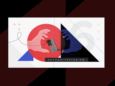 Right-Wing Authoritarianism in US - Editorial right-wing insurrection january 6 political illustration politics morning-consult illustration feature image editorial design