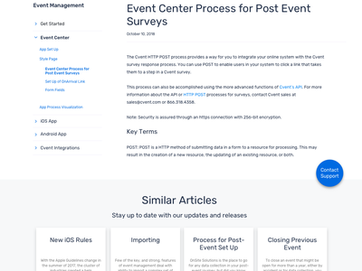 Support and Community Web Presence uidesign ui events community support