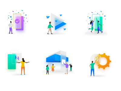 Carina Illustrations - Chapter (One) frosted glass frosted blur events ux ui corporate shapes illustration