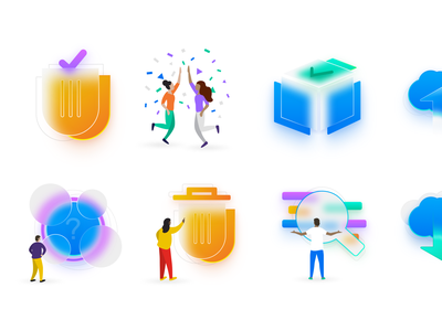 Illustrations Preview - Carina Design System ui vector events shapes identity illustration