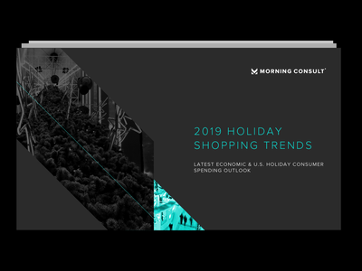 Holiday Shopping Trends Report 2019 campaign marketing campaign data visualization data dataviz polling morning-consult illustration consumer economy report layout