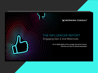 The Influencer Report 2019 report design presentation news polling social media influencers pattern layout marketing campaign morning-consult influencer report