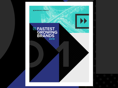 Fastest Growing Brands - Campaign Concepts layout identity report marketing campaign campaign corporate design morning-consult