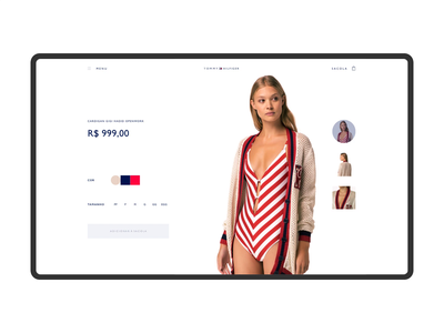 Tommy Hilfiger - Product Page visual visual design ui store fashion product interface ecommerce tommy hilfiger