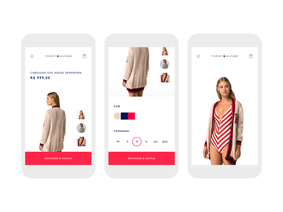 Tommy Hilfiger - Mobile product page visual ui mobile ui fashion product ecommerce interface mobile