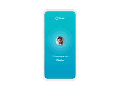Escola Concept interface app mobile ui match mobile emerald chat