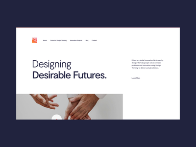 Echos Innovation Lab - Home lab visual scroll desktop interface