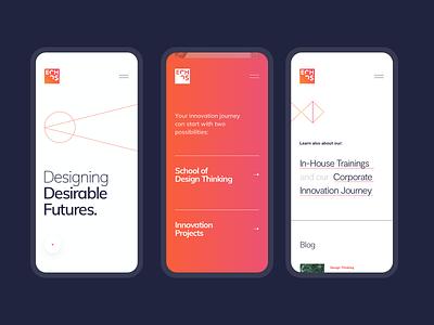 Echos Innovation Lab - Mobile mobile ui visual gradient webiste interface mobile