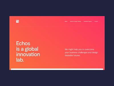 Echos Innovation Lab gradient design ui visual interface