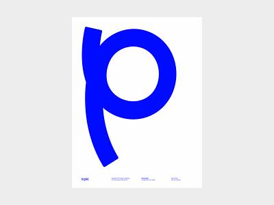 Trpkl - Poster Diversitipo trpeski design blue type poster tropikal trpkl
