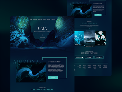 GAIA |  Natural Wonders ux ui typography web website user interface landing page home page branding design