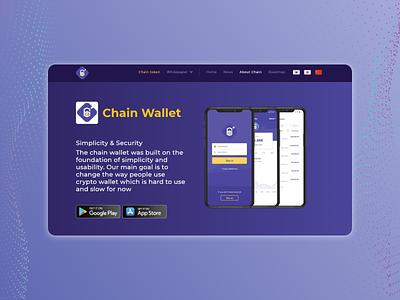 Crypto wallet landing page website web developer front end design front end dev front end web flat branding vector ui