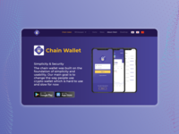 Crypto wallet landing page