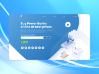 Landing page concept for a product launch