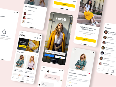 Retell an Online Shopping Platform clean ui minimalist clean website flat minimal app ui ux tech studio design agency