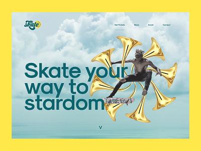 Skate Excellence Fest design landing page design landing page ui webflow web design uidesign