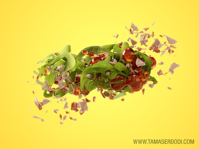 3D CGI Snackfood Exploded ingredients
