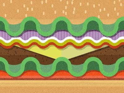 Hello, Homies debut cheese burger burger dribbble yum lunch morgan freeman food simple illustration