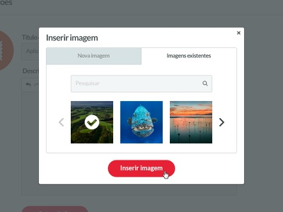 Image Picker carrousel tabs modal image picker uploader