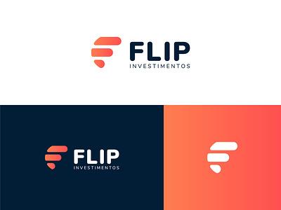 Flip Investments Logo identity icon f chart brand investment logo