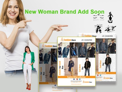 fashion store Flyer and poster