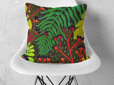 Fall botanical home decor plants nature botanical surface design illustration