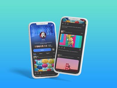 UI Design: Social media app auto animate social media app design adobe xd socialmedia colorful ui design