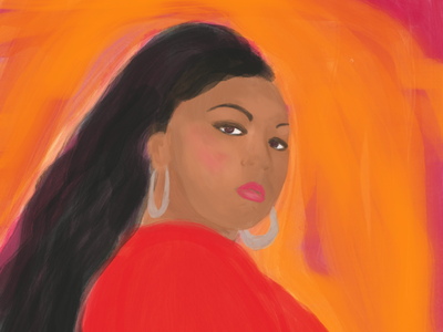 Lizzo portrait art girlpower female artists grammys portrait art lizzo