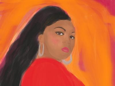 Lizzo portrait art