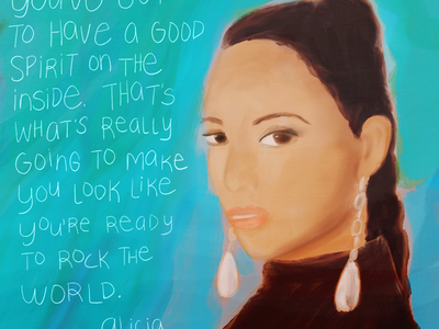 Alicia Keys inspiring quote hand lettering art hand lettering portrait painting portrait art alicia keys