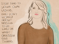 Laura Dern illustration.