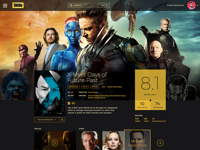 IMDb Redesign web design flat design sketch app imdb proposal face lift redesign