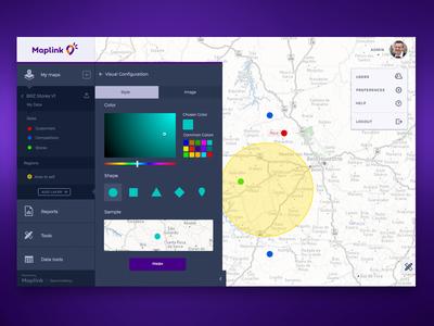 Maps Customization gis saas picker map flat ux ui visual design user interface