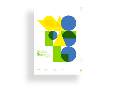 IBM Studios Summit 2016 brazil minimalism geometric poster ibmdesign ibmstudios ibm