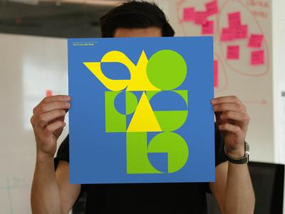 IBM Studios São Paulo Poster abstract geometric typography all type ibmdesign poster